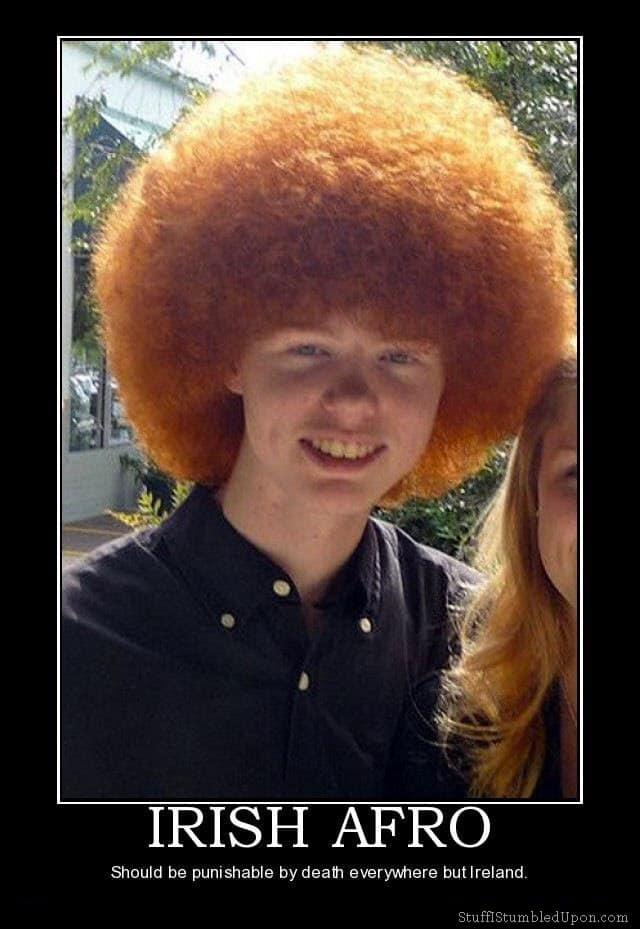 Irish Afro Redhead Afro Meme Joke Lol Funny Meanwhile In Ireland