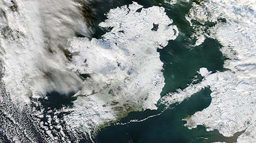 FT5S Ireland from Space Snow